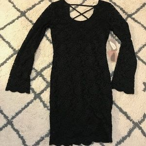 Forever 21 Long Sleeve Black Dress